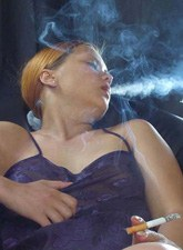 Quality smoking glamour girl