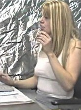Smoking secretary in office video