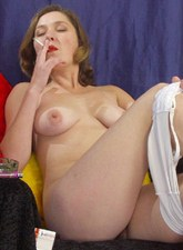 Women smoking in the nude