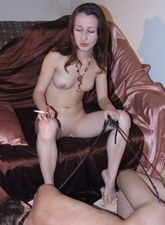 Nude exciting girls smoking in the slaves faces